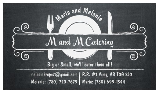 M and M Catering logo